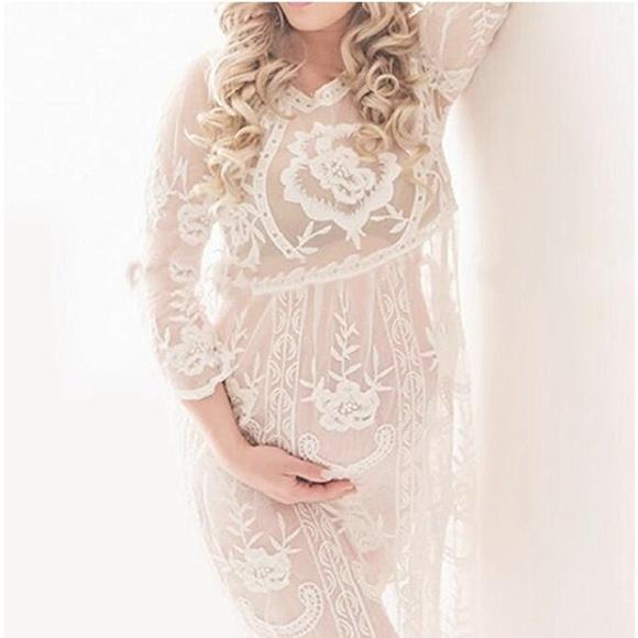 d528204c006 Dresses | Restocked Boho Lace Maternity Photoshoot Gown | Poshmark